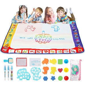 Alfombra de 1 m. para dibujar los niños, incluye 12 accesorios