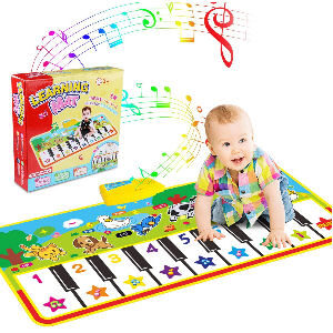 Alfombra de piano para bebés, con 8 teclas y 8 sonidos de animales
