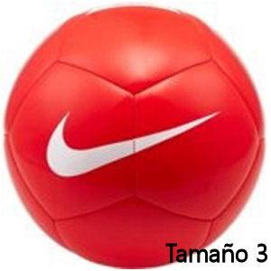 Balón de fútbol Nike rojo tamaño 3