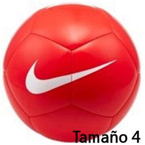Balón de fútbol Nike rojo tamaño 4
