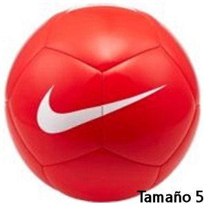 Balón de fútbol Nike rojo tamaño 5