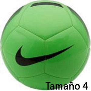 Balón de fútbol Nike verde tamaño 4