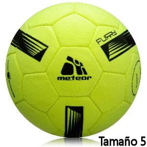 Balón de fútbol amarillo Meteor tamaño 5