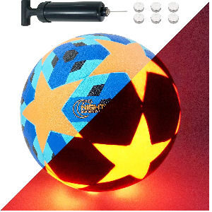 Balón de fútbol brillante con luz para niños
