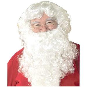 Barba de Papá Noel, peluca de Santa Claus con barba para traje de navidad