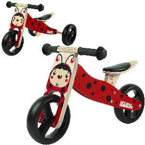 Bici + triciclo mariquita para niños