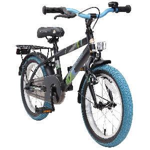 Bicicleta infantil negra para niños
