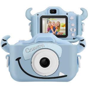 Cámara de fotos con cuernos para niños, de 12 Megapixels y vídeo 1080p con pantalla de 2 pulgadas