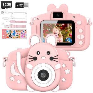 Cámara de fotos con forma de ratón para niñas