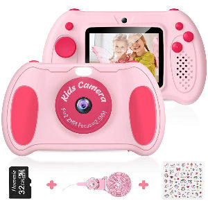 Cámara digital de fotos para niños con vídeo 1080p y 12 MP.