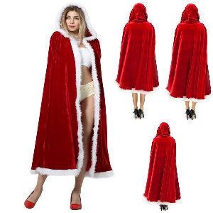 Capa de Papá Noel con capucha
