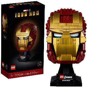 Casco de Iron Man de LEGO con 480 piezas para coleccionistas adultos