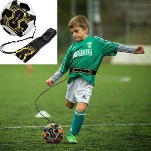 Cinta para entrenar fútbol en solitario, cintura ajustable y distancia de la pelota ajustable, para balones de talla 3, 4 y 5