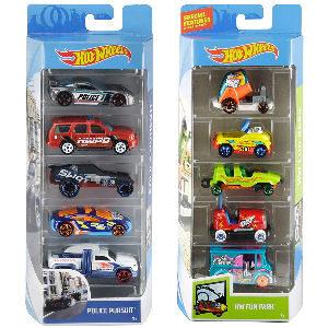 Coches hot wheels para niños, pack de 5 coches surtidos