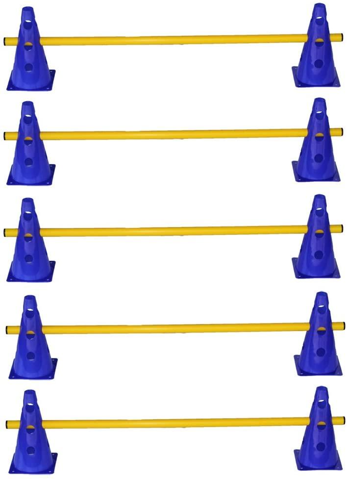 Vallas de obstáculos con conos regulables en altura