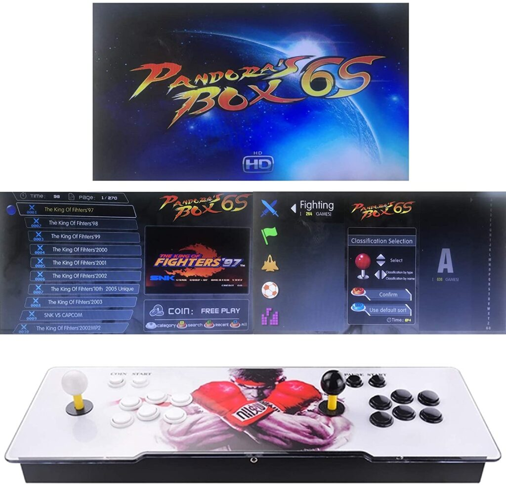 Consola retro con joysticks barata