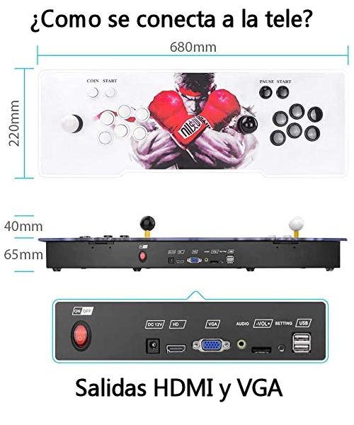 Consola retro con salida HDMI y VGA