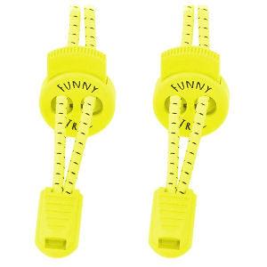Cordones elásticos amarillo neón para niños