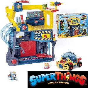 Cuartel General SuperThings Rivals of Kaboom, incluye el cuartel, 2 SuperThings y el super villano Mr. King