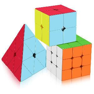 Cubo de Rubik 3 en 1, cubo de 2x2. 3x3 y pirámide