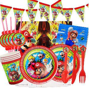 Decoración fiesta cumpleaños Super Mario gamers