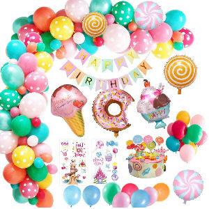 Decoración fiesta cumpleaños helados dulces