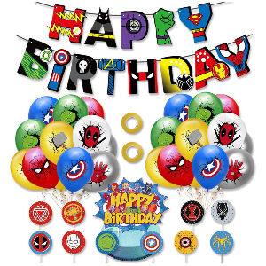 Decoración fiesta cumpleaños superheroes marvel
