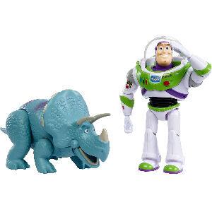 Dinosaurio trixie Toy Story 4 y muñeco de Buzz Lightyear