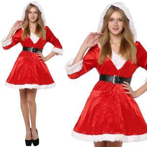 Disfraz de Mamá Noel deluxe rojo