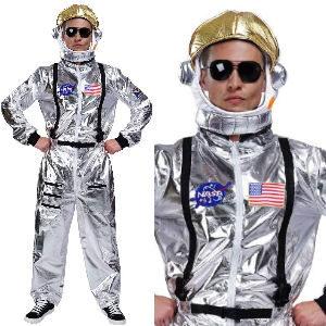 Disfraz de astronauta con casco para adultos