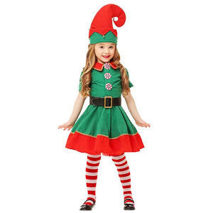 Disfraz de duende para niñas con falda