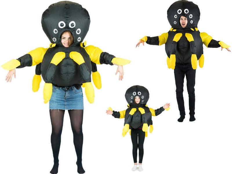 Disfraz hinchable araña para familias