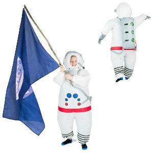Disfraz hinchable astronauta para niños talla de 5 a 11 años