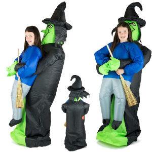 Disfraz hinchable bruja halloween para niños