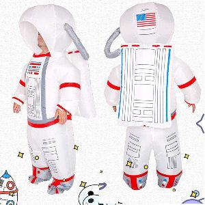 Disfraz hinchable de astronauta para adultos con bomba de aire, tamaño de 150 a 190 cm.