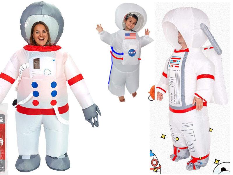 Disfraz hinchable de astronauta para toda la familia