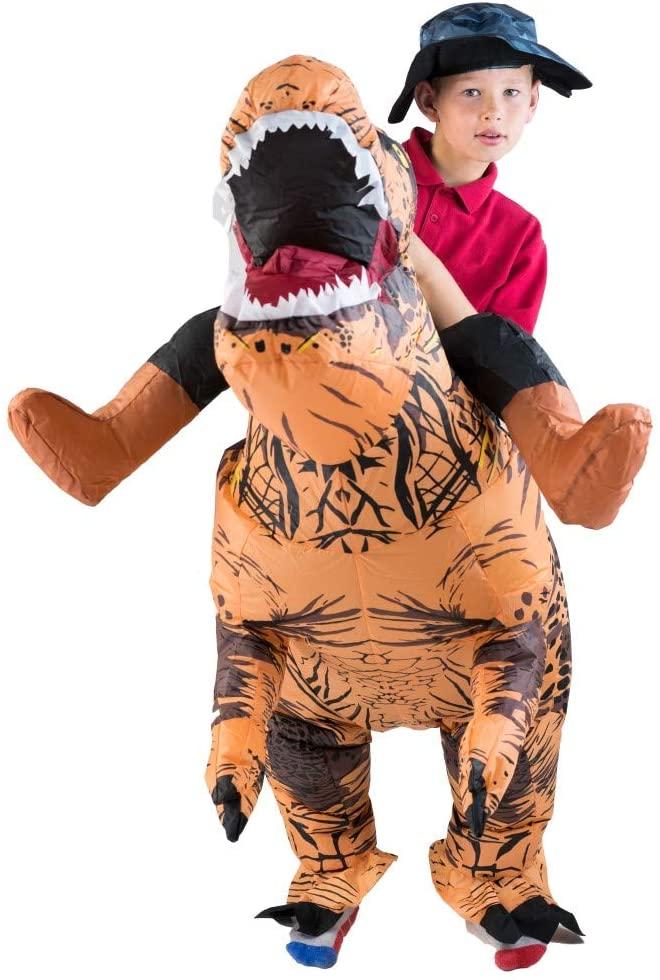Disfraz hinchable de dinosaurio T-Rex para niños