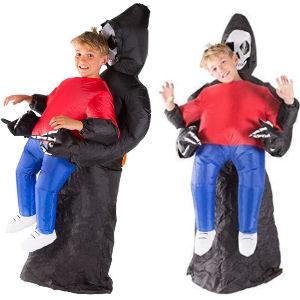 Disfraz hinchable esqueleto para niños