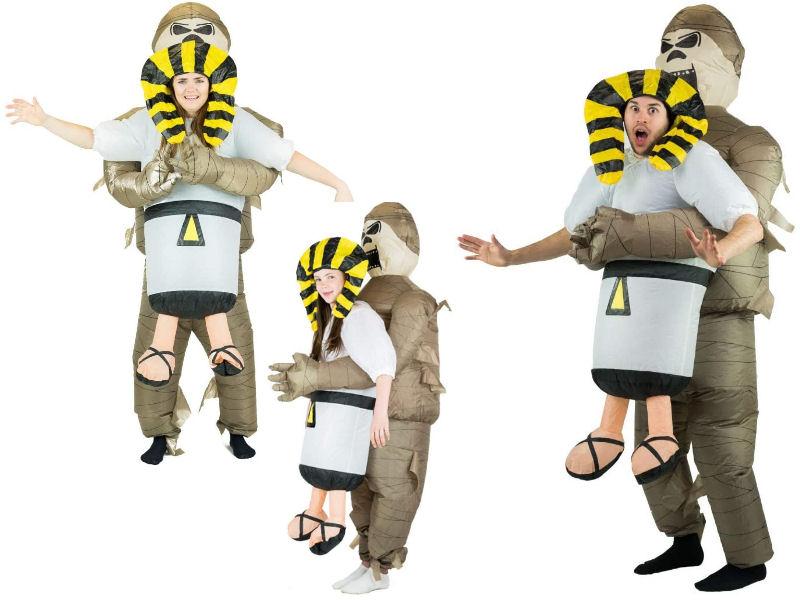 Disfraz hinchable momia egipcia para familias