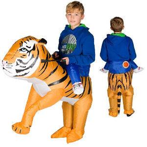 Disfraz hinchable tigre para niños