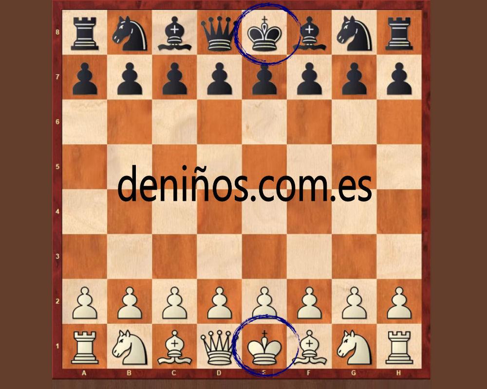 Donde se coloca el rey en el ajedrez