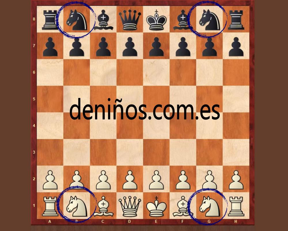 Donde se colocan los caballos en el ajedrez