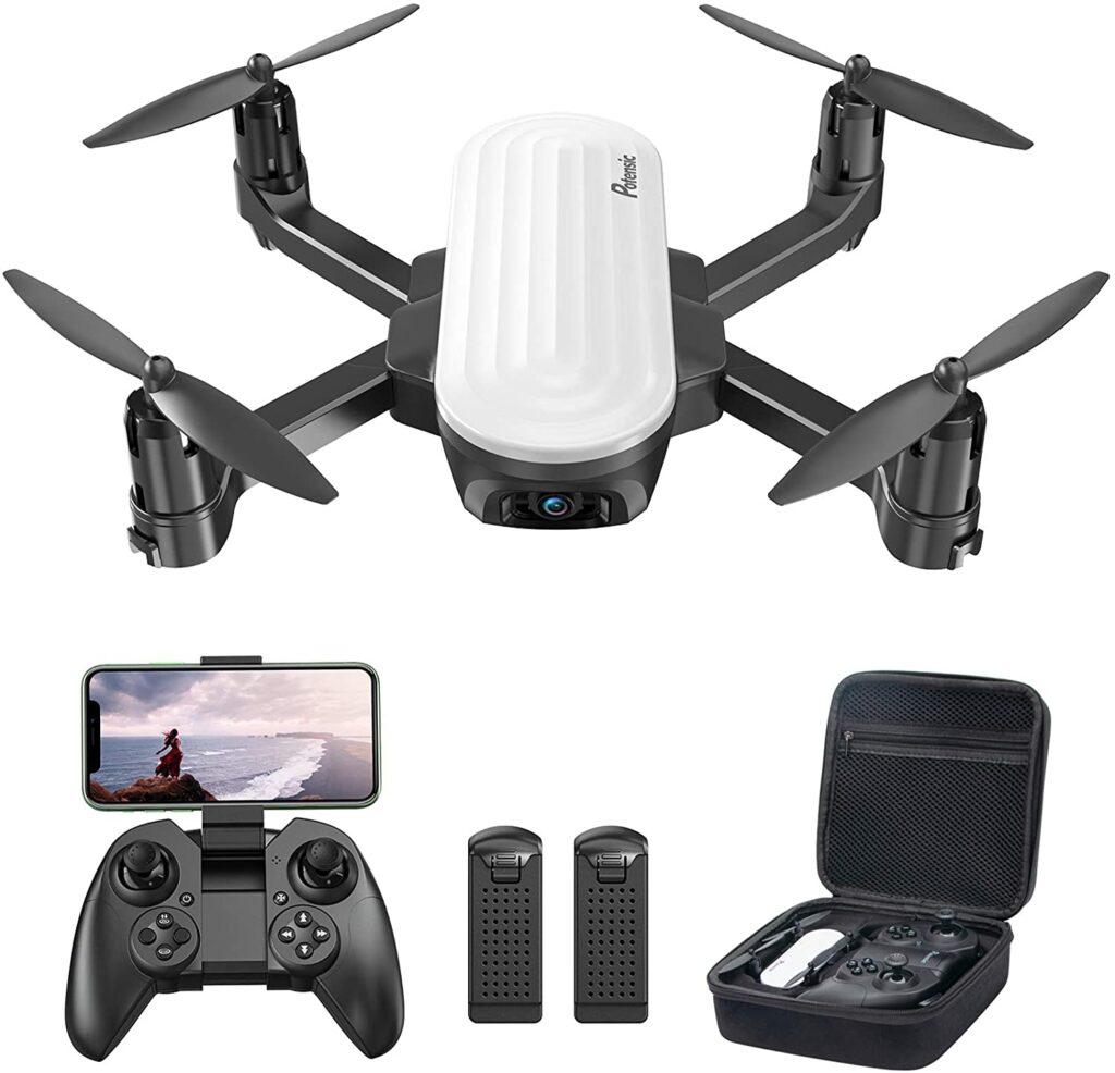 Dron con bolsa de transporte para niños, con camara 2K y 20 minutos de autonomía de vuelo