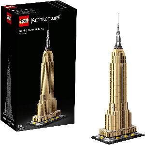 Edificio Empire State Building de LEGO para coleccionistas adultos con 1.750 piezas de construcción, 55 cm. de altura