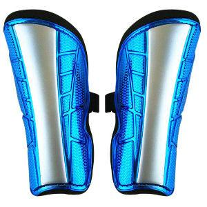 Espinilleras azules para niños de 6 a 12 años