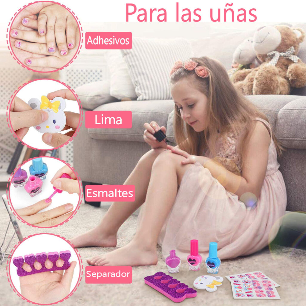 Estuches para el cuidado de uñas para niñas y niños