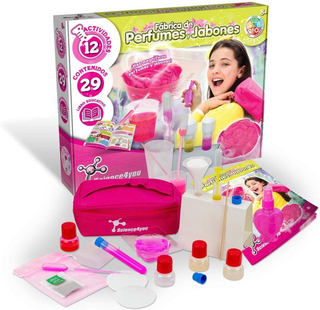 Fábrica de perfumes y jabones para niños, incluye experimentos, para niños de 8 a 12 años