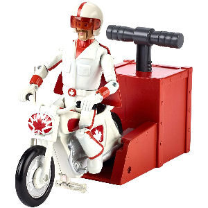 Figura motorista Duke Caboom de Toy Story 4, el motorista que realiza carreras y acrobacias