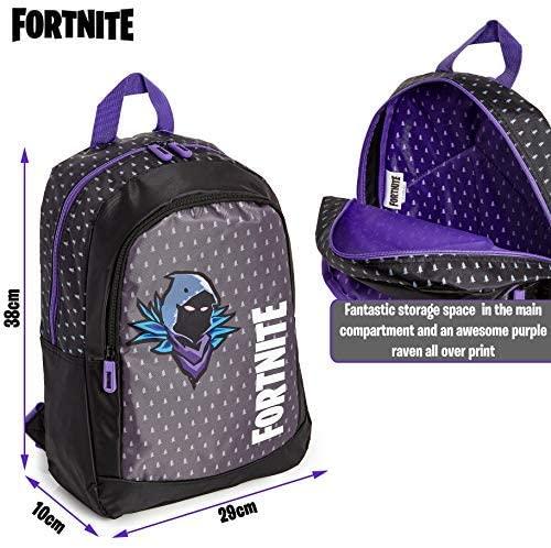 Fortnite mochila cuervo lila