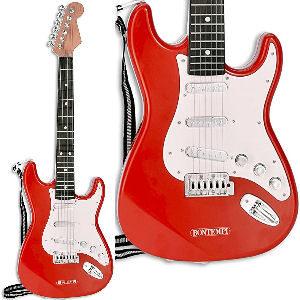 Guitarra de rock para niños, guitarra eléctrica de 6 cuerdas con sonido realista